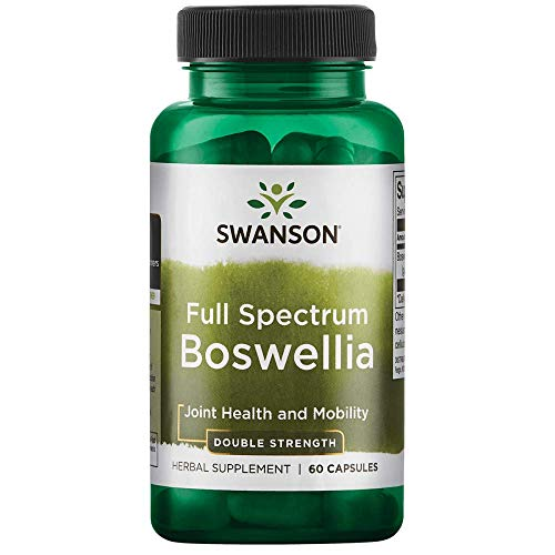 Swanson Boswellia Joint Mobility Respiratory Health Support Supplement Full Spectrum Double Strength 800 mg 60 Capsules