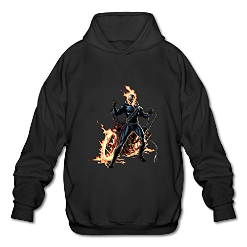 [BOOMY Ghost Rider Man's Hooded Sweatshirt SIZE L] (John Paul Jones Costumes)