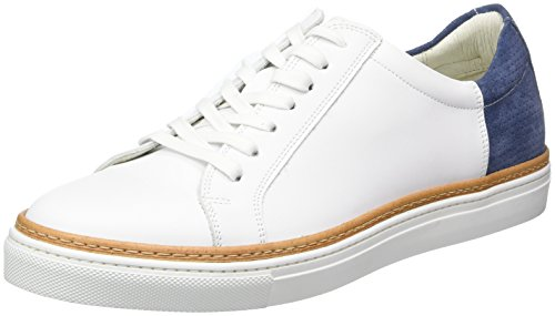 Kenneth Cole Men's Prem-Ier Show Low-Top Sneakers White (White Navy 117) clearance buy for cheap sale online cheap sale the cheapest free shipping lowest price p3Qum1R6V
