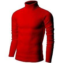Nyfashioncity Mens Basic Ribbed Turtleneck Shirts Cotton Thermal Sweater