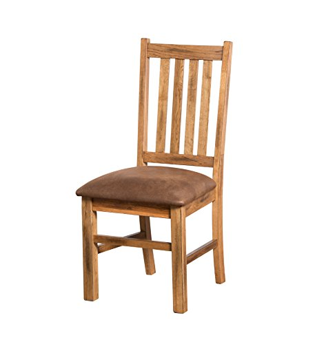 Sunny Designs 1404RO-CT Sedona Side Chair, Rustic (Rustic Oak Extension)