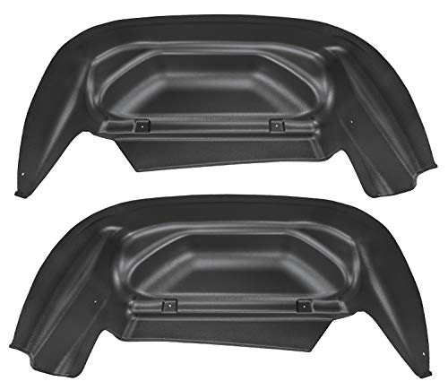Rear Liner Black - Husky Liners 79011 Black Rear Wheel Well Guards Fits 14-18, 15-19 2500/3500-no overloads, 2019 Silverado 1500 LD