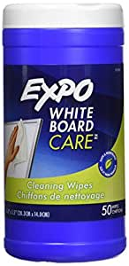 """Expo White Board Care, Cleaning Wipes, 8""""x5.5"""", 50 Count"""