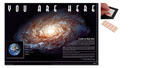 Bundle - 2 Items - You Are Here In The Galaxy Blue Dot In Sp