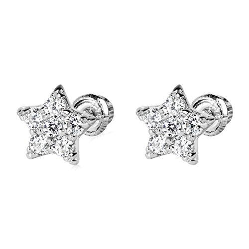 (14k WG Star Stud Earrings 4892 42900)