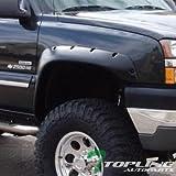 Topline Autopart Matte Black Pocket Fender Flare Wheel Cover Jr 99-07 Chevy/Gmc Silverado/Sierra