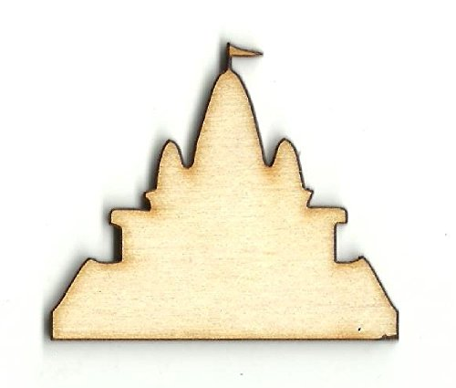 Sand Castle - Laser Cut Unfinished Wood Shape BLD60 from The Wood Shape Store
