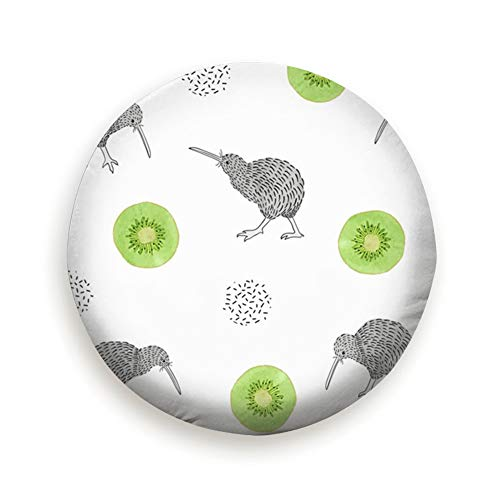Watercolor Kiwi Birds Animals Tire Cover Polyester Universal Spare Wheel Tire Cover Wheel Covers for Trailer RV SUV Truck Camper Travel Trailer Accessories(14,15,16,17 Inch) 17inch