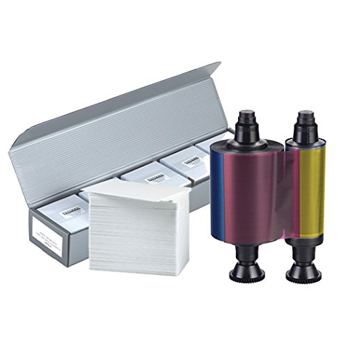 Evolis R3011 YMCKO Color Ribbon + 500 PVC Cards