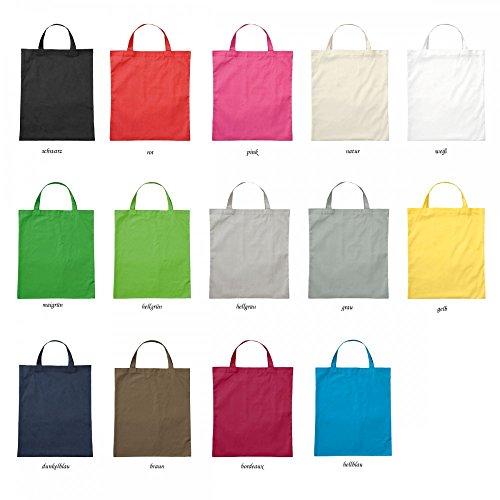 Premium Baumwolltasche Umhängetasche Stoffbeutel Beutel Shopper mit kurzen Henkel - viele Farbe, Farbe Einkaufstasche:dunkelblau