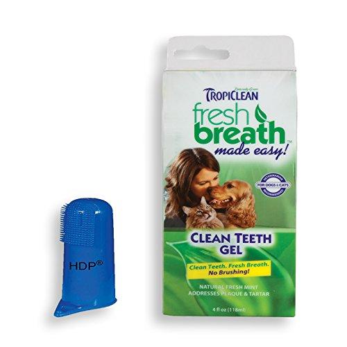 Fresh Breath Toothbrush (Tropiclean Fresh Breath Clean teeth gel holistic Made in USA Size:Pack of 1 with Bonus)