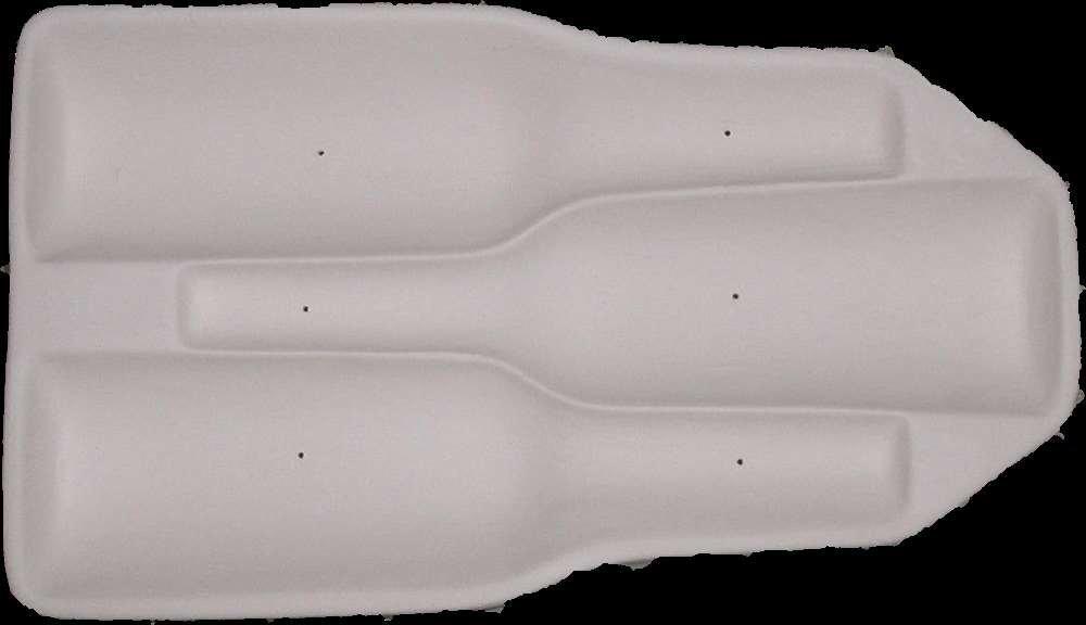 Triple Beer Bottle Sagger Sager Glass kiln Mold 784862148147