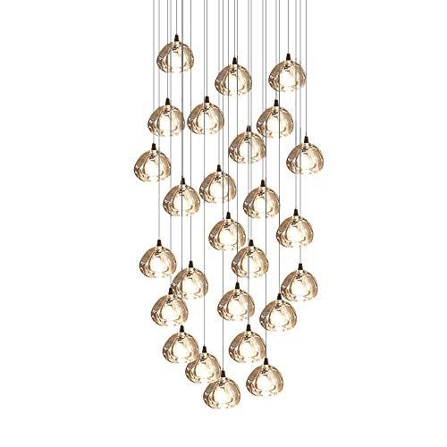 Crystal Chandelier Modern Pendant Light LED Raindrop Ceiling Light Crystal Ball Lighting Fixture 26 Lights for Staircase Living Room Hotel Hallway Living Room Hotel Hallway Foyer Entry Way