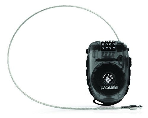 Pacsafe Retractasafe 250 Cable Lock, Color:Smoke, One Size