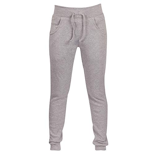 (iYYVV Womens Cotton Jog Pants Skinny Sweatpant Casual Joggers Bottoms Sport Plus Size Gray)