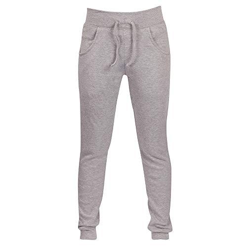 BBesty Womens Cotton Jog Pants Skinny Sweatpant Casual Joggers Bottoms Sport Plus Size Gray -