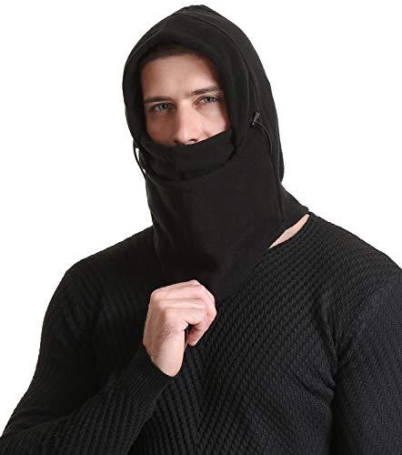 Diravo Balaclava Ski Mask Windproof Face Mask Cold Weather Motocycle Neck Warmer Outdoors Black