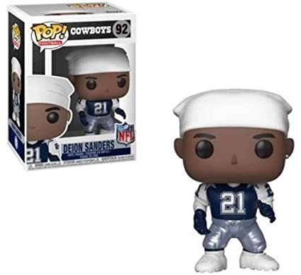8b4389ded04 Amazon.com  Funko POP NFL  Legends - Deion Sanders Vinyl Figure  Toys    Games