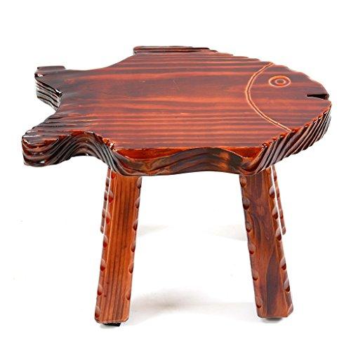 LQQGXL European chair Children's small bench, solid wood creative cartoon animal-shaped small stool home portable stool by LQQGXL