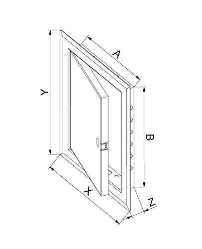 bianco Metallo di elevata qualit/à l accesso al pannello da parete ispezione botola sportello Vision Service Point a