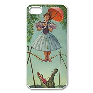 Custom Your Own Personalised TIGHTROPE WALKER Alligator Girl Iphone 5 Best Durable Hard Cover Case