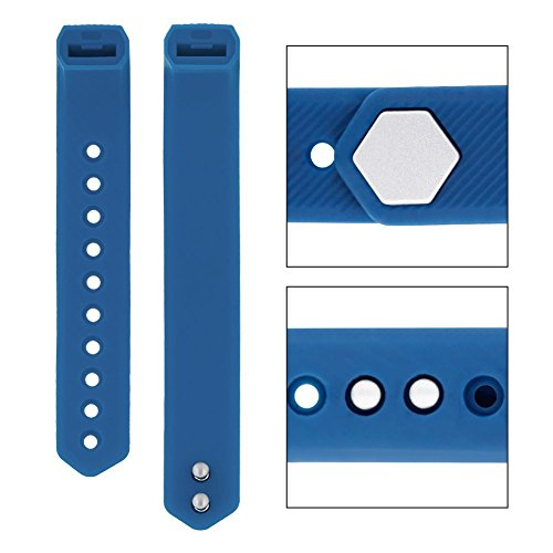 TPU Replacement Straps for Fitness Tracker Watch ID115 / ID115HR(blue)
