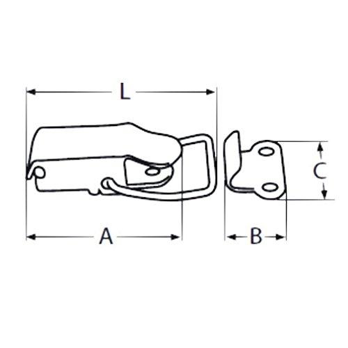 2 St/ück Mini Edelstahl Hebelverschlu/ß V2A Spannverschluss Kistenverschluss