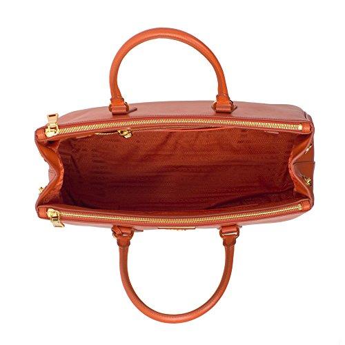 Jual Prada Papaya Orange Saffiano Designer Lux Tote for Women BN1786 ... 3750bd6ad5