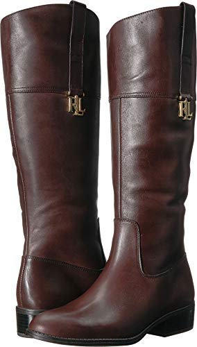 Lauren Ralph Lauren Women's Merrie Fashion Boot, Brown, 8 B US