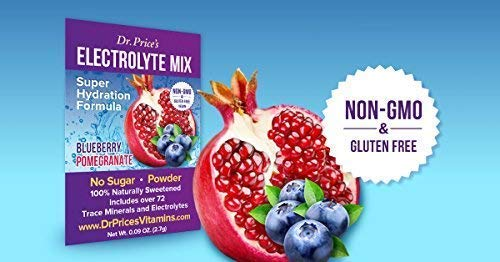 Electrolyte Mix Super Hydration Formula + Trace Minerals | New! Blueberry-Pomegranate Flavor (30 Powder Packets) Sports Drink Mix | Dr. Price's Vitamins | No Sugar, Non-GMO, Gluten Free & Vegan
