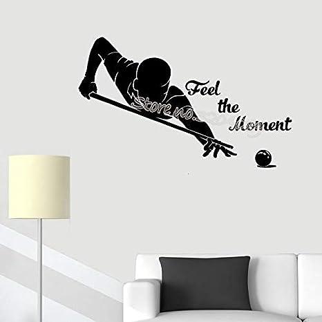Piscina de billar Etiqueta de la pared Siente el momento ...