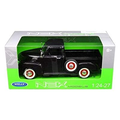 1953 Chevrolet 3100 Pick Up Truck Black 1/24-1/27 Diecast Model Car by Welly 22087: Toys & Games