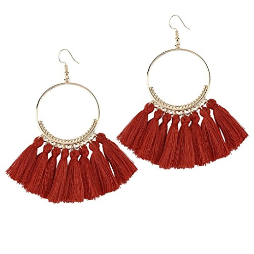Earrings for Women,Caopixx Ladies Boho Earrings Tassel Drop Earrings Dangle Earrings Jewelry (G, alloy)
