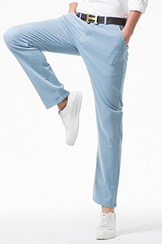cotoncoupe droitepantalon Pantalon longpantalon tout décontractémodèle classiquejambe Harrms homme Mh104 18couleur aller bleu en PkiOZuTX