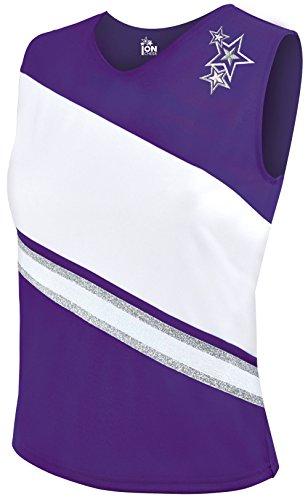 - Rotation Cheerleading Shell Top - Purple Medium