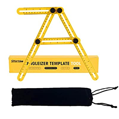 Azorcol Angle Measurement Tool - Angleizer Tile & Flooring Template Measure Ruler and Layout Tools for DIY Wood Tile Carpenter,Handymen,Builders,Craftsmen,Engineer