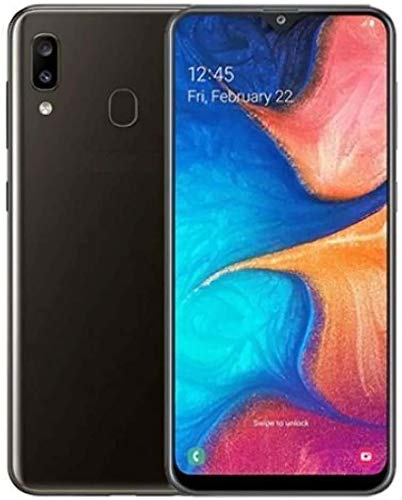 """Samsung Galaxy A20 US Version GSM Unlocked not CDMA Cell Phone with 32GB Memory, 6.4"""" Screen, 12 Month Samsung US Version, Black with Free Tempered Glass"""