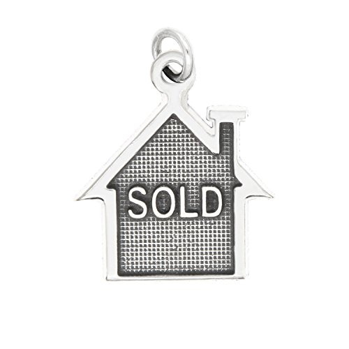 Lgu Sterling Silver Oxidized Sold House Realty Charm (with Options) (Charm) (Charm Silver Sterling House)