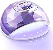 Janolia Lampe UV LED Ongles Gel, 86W Portable Séchoir à Ongles avec 39 LED Lumières, 10S Séchage Rapide, 4 Minuteries,...