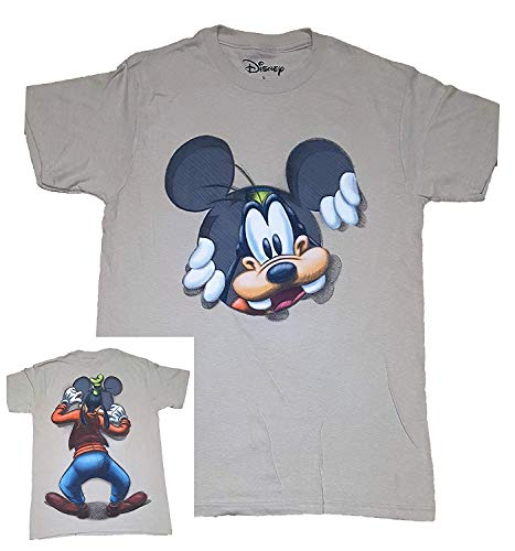 Disney Goofy Peeking Adult Fashion Top T Shirt- S