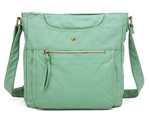 Scarleton Soft Multi Pocket Crossbody Bag H181253 - Mint