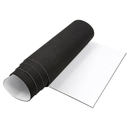 Adhesive Weather Stripping, Closed Cell Foam Seal Self Adhesive Foam Padding Roll Non-Slip Insulation Rubber Sheet 1/16 Inch Thick X 12 Inch Wide X 59 Inch Long ()