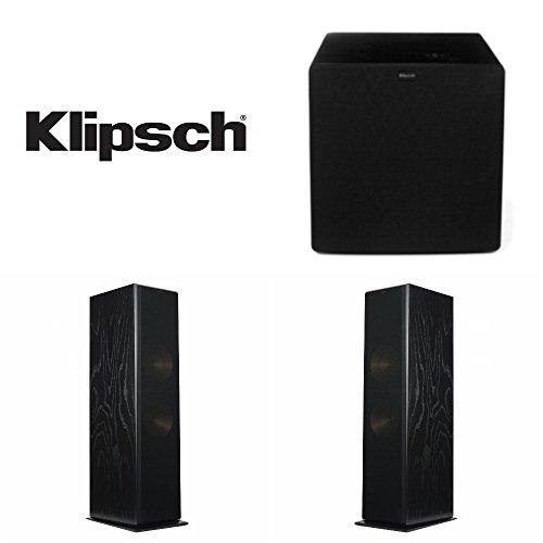 Klipsch RF-7 III Floor-standing Speaker Pair (Black Ash) Bundled with (1) Klipsch SW-311 10-inch Subwoofer