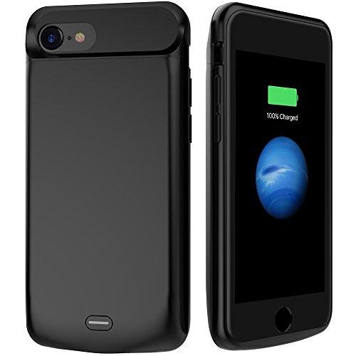 GIZMOOR iPhone 7 5000mAh Battery Case, iPhone 7 Charging Case Rechargable External Portable Power Case for iPhone 7(4.7'')With 200% Extra Battery for iPhone 7 Charger Case Black