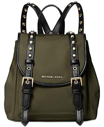 Michael Kors Leila Nylon Mini Flap Backpack (Olive)