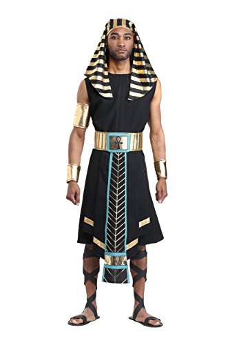 Men's Dark Egyptian Pharaoh Costume Large -