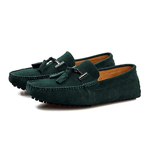 Y E Do Para Conducción Invierno Oficina Cordones Barco Otoño Mocasines De Perezosos Confortables Hombre Fuweiencore Zapatillas Zapatos Sin Automóviles Cuero H0PPq4w