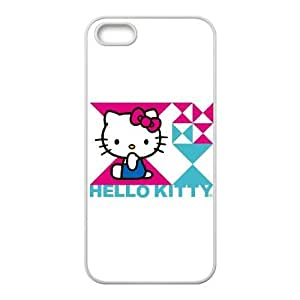 Hello Kitty Triangle iPhone 4 4s Cell Phone Case White Delicate gift JIS_353205