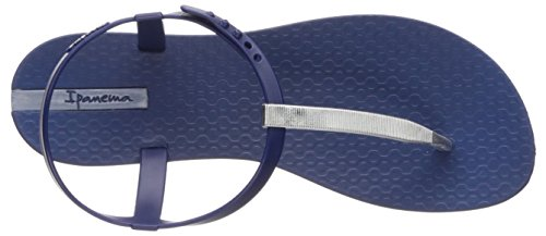Women's Flat Ipanema Sandal SILVER Blue Bandeau vpqZxn0