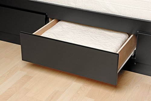 Prepac BBT-4106 Tall Twin Sonoma Platform Storage Bed with 6 Drawers